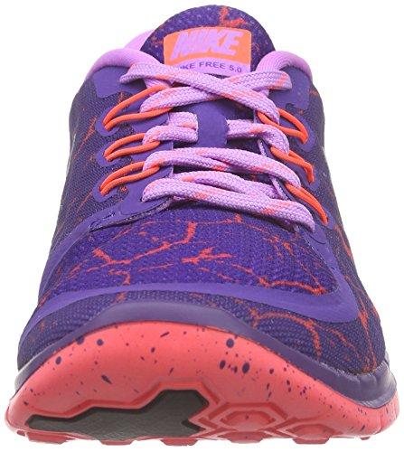 Nike Mädchen Free 5.0 Lava Gs Laufschuhe Violett (Crt Prpl/Mtllc Slvr-Fchs Glw-H)