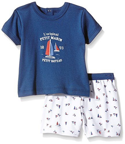 Petit Bateau Baby-Jungen Unterwäsche-Set Believe Mehrfarbig-Multicolore (Major/Écume/Multico), (Herstellergröße: 3 Monate)