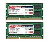 Komputerbay MACMEMORY 8GB (2x 4GB) DDR3 PC3-8500 1066MHz SODIMM 204-Pin Laptop Memory for Apple Mac