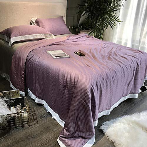 MAOMEI Doppelseitig importierte Seidensteppdecke, Sommerdecke, Waschbar, Klimatisierte Bettdecke, 200 × 230 cm, 220 × 240 cm - Importierte Bettwäsche
