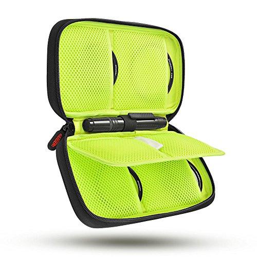Rangers Professionelle Objektiv Filter Fall mit 6-Slots und Karabiner für UV CPL FLD ND 49mm-77mm Filters RA104