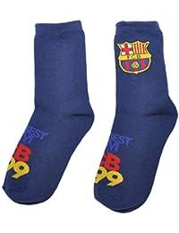 FCB Calcetines para niños con licencia oficial del FC Barcelona Messi Suarez Neymar