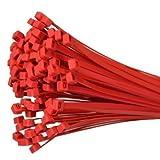 100Stk. presilla libre de halógenos 280x 4,8mm rojo jskb28048de R