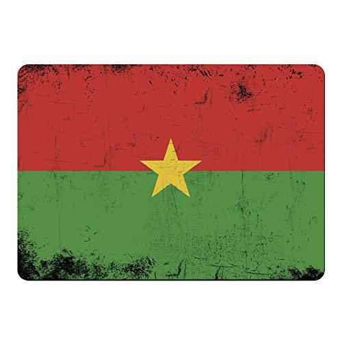 Mousepad Fahne Retro Burkina Faso farbig