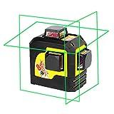 Firecore profesional F93TG 3D verde nivel láser de línea horizontal 3 * 360 horizontal y vertical nivel láser de línea cruzada