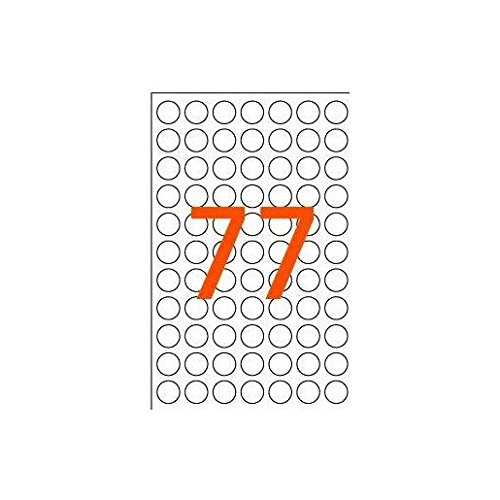 AGIPA Lot de 3 Sachets de 462 étiquettes Gommettes de signalisation Rondes 8 mm Rouge