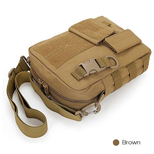 Umhängetasche Herren Retro Schultertasche Kleine Messenger Taschen für Sporttasche Outdoor Freizeit Schule Reisetasche Strandtasche Günstige Freitag Handtaschen braun