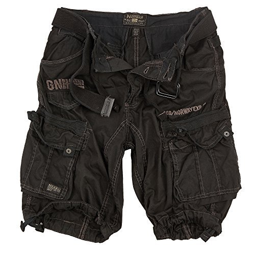 Geographical Norway Cargo Shorts Hunter mit UD Bandana Black - XXL -