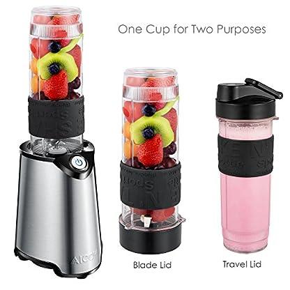 Aicok-Mini-Standmixer-Smoothie-Maker-mit-zwei-BPA-freie-Tritan-Trinkflasche-300-W-Edelstahl