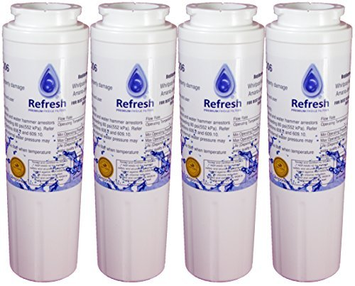 Maytag UKF8001 PUR Whirlpool EDR4RXD1 4-Pack Compatible Refrigerator Water Filter R-9006 by Refresh by Refresh (Maytag Pur Ukf8001 Filter)
