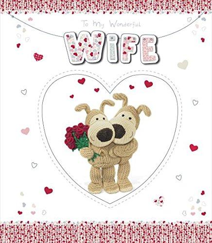 Boofle Groß Verpackt Ehefrau Valentinstag Karte (Valentinstag-karten Große)