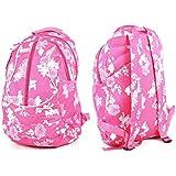 Pink Flower Girls Womens Hi-Tec Rucksack School College Student Backpack Bag Holds A4