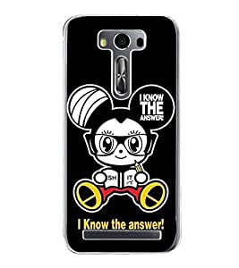 Cartoon 2D Hard Polycarbonate Designer Back Case Cover for Asus Zenfone 2 Laser ZE550KL (5.5 INCHES)
