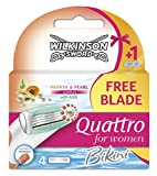 Wilkinson Sword Quattro Bikini Lames de rasoir pour femme Lot de 4