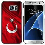 FJCases Turquie Turc Drapeau hissé Coque Étui Cache Housse de Protection Fine et Rigide pour Samsung Galaxy S7 Edge
