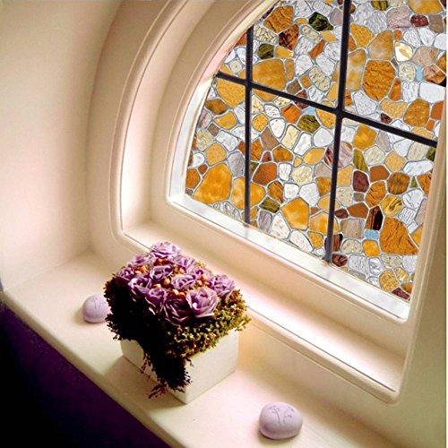 HXSS Pebble Pattern Static Cling Window Stickers 45cm by (Haar Markieren Sticks Sie)