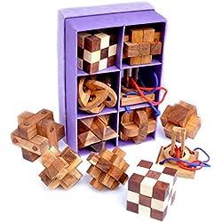 Logica Giochi SET LEGNO 6 IN 1 Rompicapo in legno