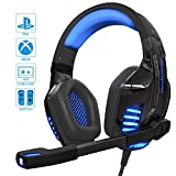 IGROME PS4 Headset, PC Gaming Kopfhörer auch für Xbox One & Nintendo Switch & Laptop, Bass...