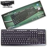 Motion Multimedia Tastatur mit 2 USB Hub - KB2808