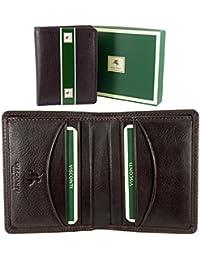 Homme VISCONTI slim Portefeuille Compact en Cuir Souple pour 8cartes de crédit et billets–Boîte Cadeau
