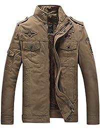 Menschwear Men's Fleece Lined Jacket Warm Trench Coat