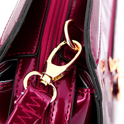Yan Show, Borsa a tracolla donna verde Dark green Wine Red