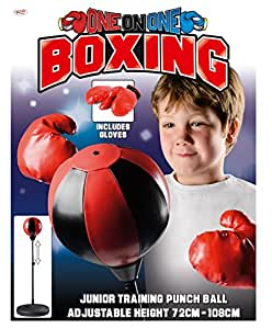 Toyrific Kids Punch Ball With 6 Ounce Boxing Gloves & Stand