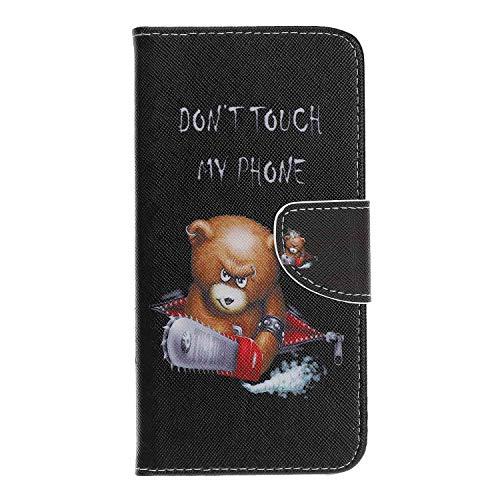 Reevermap Huawei Honor 20 Pro Hülle, Premium Leder Hülle Tasche Flip Case Cover Kartensteckplätze Standfunktion Schutzhülle Handyhüllen für Huawei Honor 20 Pro, Bär -