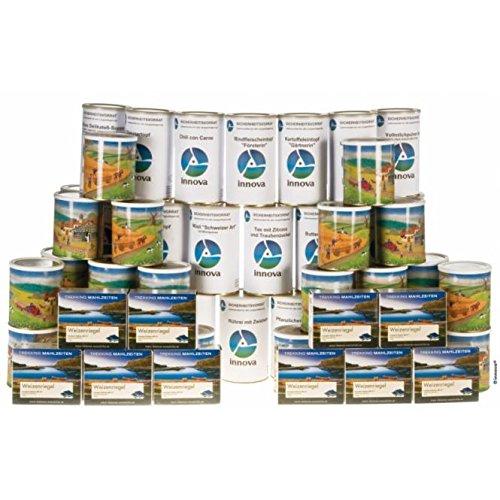 Krisenvorsorge 90 Tage Langzeitnahrung Paket - versandkostenfrei!, Lebensmittel/Notfallnahrung mit Fleisch