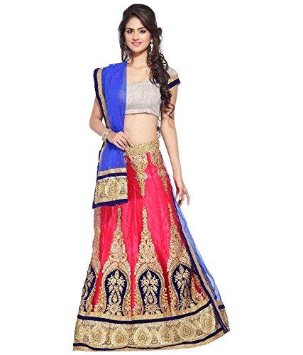Siddeshwary Fab Pink Heavy Embroidered/ Lace work Lehanga Choli