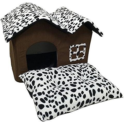 Casa Del Cane Cotone PP Pieghevole Cuccia Per Grande Casa Del Cane Con Mat Animali Prodotto Cats 50x40x35CM