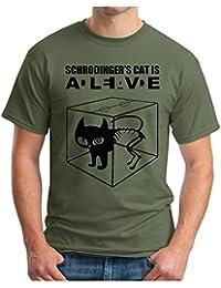 OM3 - BIG BANG - SCHROEDINGERS CAT - T-Shirt Is Alive Is Dead Schroedinger's Katze, S - 5XL