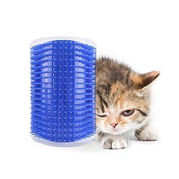 Adesugata Cat Brosse?-- pour animal domestique Self tondeuse cheveux retrait Brosse de massage à herbe à chat Toilettage Chaton mural d'angle perte de cheveux Peigne coupe
