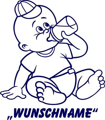 INDIGOS UG - Babystrampler / Strampler 067 mit Wunschname / Wunschtext schwarz 86/92
