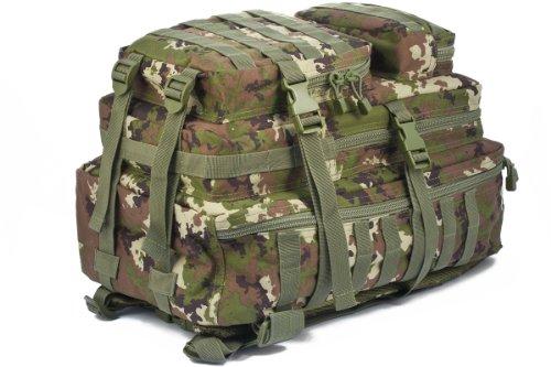 Camouflage Militaire Armée Sac à dos US assault pack 50L MOLLE Woodland Vegetato