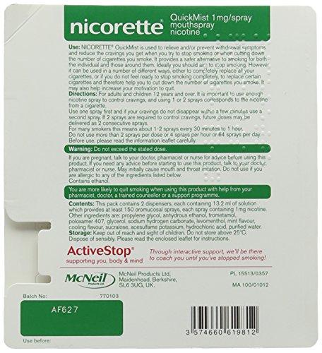 Nicorette Freshmint QuickMist 1 mg, Duo