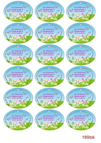 Etiquetas de nombre - etiquetas escolares - para niños juego de diseño de nombre: mariposa bosque (31 teilig)