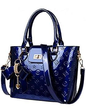 Oruil Mode-Handtasche mit Blumen-Design Handtasche Charme und Metall-Verschluss PU-Leder-Handtasche für Frauen