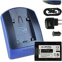 Baterìa + Cargador (USB/Coche/Corriente) para Sony NP-FV50 / DCR-PJ../SR../SX.. // DEV-3 5 30 50 50V // HDR-CX../PJ../XR.. // NEX-VG.. ver lista!