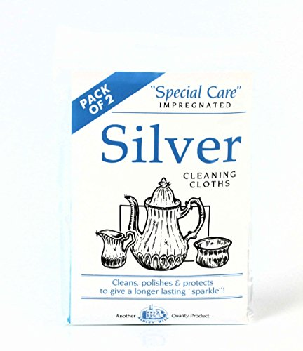 2 x Silberputztücher Silberputzmittel Reinigungstuch Politur Silber Silberreinigungsmittel Reinigungsmittel Silber-Putztuch Silber Schmuck reinigen polieren pflegen putzen Schmuckputztuch Silberreinigung Silberputztücher Silbermittel Silberpolitur