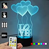 Best LIFE Home Table Lamps - Lampees™ 3D Illusion Love Balloons LED Lamp Review