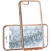 Caso Chrome per iPhone 6 / 6S | Custodia in silicone trasparente con effetto metallico | Thin Sacchetto di protezione cellulare OneFlow | Backcover in Rose