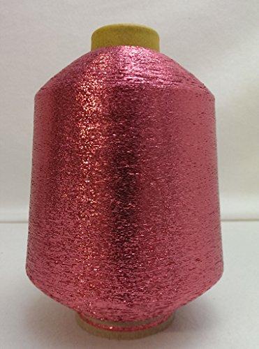 PhiloTeXX 1 Spule Metallgarn GP 42,00 EUR/kg Baby Pink 86.000 m/kg Lame Beilaufgarn Glitzergarn 62%...