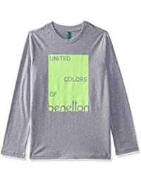 United Colors of Benetton Boy's Solid Regular Fit T-Shirt