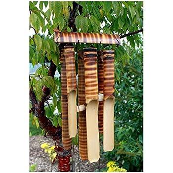 Commerce équitable Grand Carillon à vent en bambou avec 6 tubes