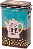 Quality IT IS ALWAYS COFFEE TIME - Vintage Style COFFEE POT DESIGN Rectangular