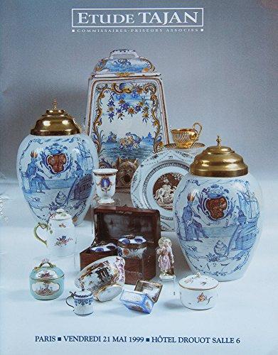 Vendredi 21 mai 1999, Paris, Hôtel Drouot : Porcelaines et faïences anciennes par Tajan