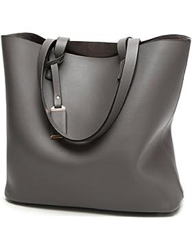 Rovanci PU Leder Handtasche Ledertasche Shopper Tasche für Damen Handtasche große Beiläufig