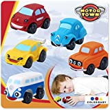 Color Baby - Pack 5 vehículo Motor Town blanditos, multicolor (703133)