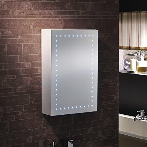 Novara led bathroom led mirror cabinet illuminated for Bathroom cabinets next